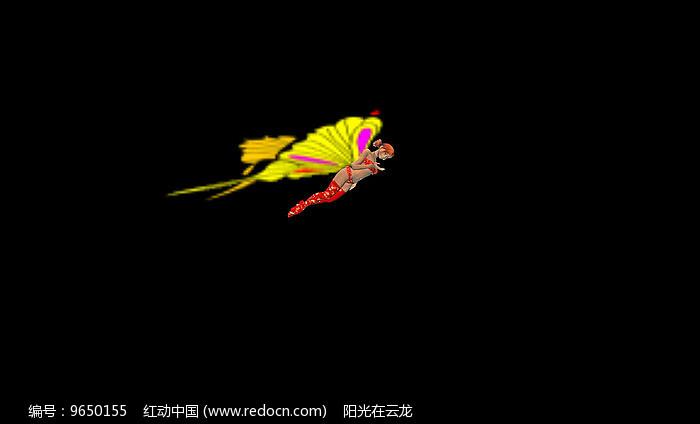 带透明通道蝴蝶精灵抠像素材