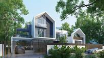 现代独栋别墅3D模型下载