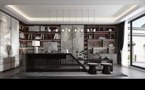 新中式 书房设计模型